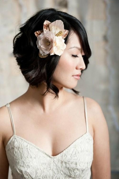 Fryzury ślubne Z Krótkich Włosów Galerie Moda ślubna