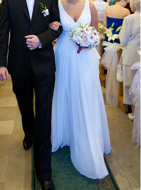 623dd12277 Muślinowa suknia ślubna